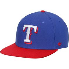 Texas Rangers '47 Sure Shot Two-Tone Snapback Adjustable Hat - Royal/Red
