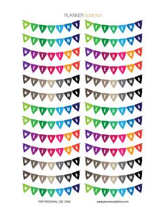 FREE Printable Planner Stickers - Colorful Banner by Planner Addiction