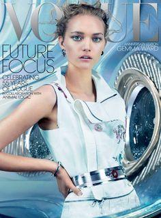 nice News   Gemma Ward estrela capa do aniversário de 55 anos da Vogue Austrália Dezembro 2014