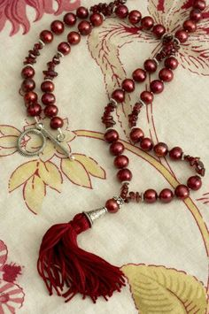 Garnets fresh water #pearl and sterling silver #necklace #beads