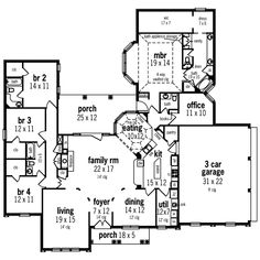 Sunbelt Home Plan First Floor - 020D-0328 | House Plans and More