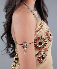 Armband with White Crystals