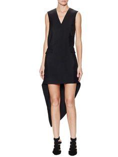 Asymmetrical V-Neck Dress by Balenciaga at Gilt