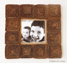 Porta retrato caixas de papelão