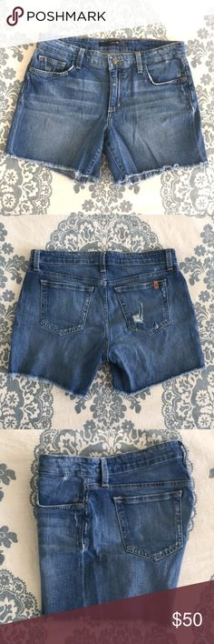 Joe's Jeans McKayla Shorts size 27 Joe's Jeans distressed McKayla shorts, size 27. Very soft denim, can be worn as pictured or rolled up. Joe's Jeans Shorts Jean Shorts