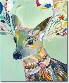 colourful cow painting - Google Search
