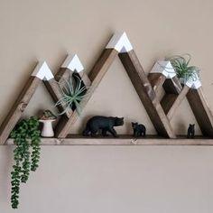 Mountain Shelf, Mountain Decor, Mountain Nursery, Mountain Range, Rustic Wooden Shelves, Rustic Walls, Wooden Art, Wooden Fall Decor, Nursery Shelves