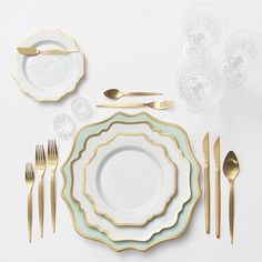 Our NEW Anna Weatherley Chargers in Aqua Sky + Anna Weatherley Dinnerware