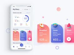 My Diary Page for Fitness App Interaction by Ngoc Dang on Dribbble – Bankgeschäfte Design Web, App Ui Design, Game Design, Dashboard Design, Graphic Design, Flat Design, Design Trends, Web Mobile, Mobile App Ui