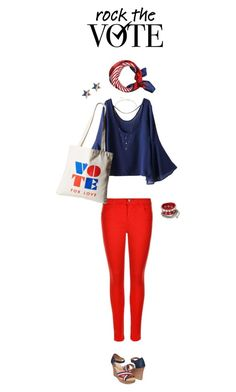 """Rock the Vote"" by castles-inthesky ❤ liked on Polyvore featuring J Brand, WithChic, Dogeared and IaM by Ileana Makri"