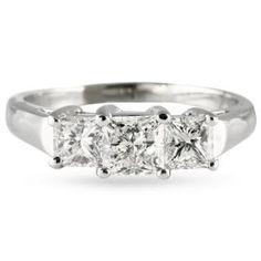 .75 CT #PRINCESS #CUT #DIAMOND #18K #WHITE #GOLD #THREESTONE  #ENGAGEMENT #RING #LAURENB #LAURENBJEWELRY