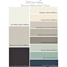 On the blog today, I'm highlighting the best selling and most popular paint colors for 2015 (Benjamin Moore & Sherwin Williams). A good place to start if you're looking for a beautiful color with a great track record. Link in profile. #paint #color #interiordesign