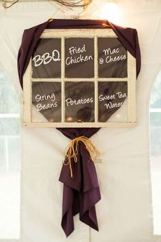 Like the menu written on a window! (not a fan of the fabric color however)