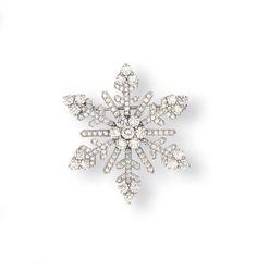 A DIAMOND 'ICE CRYSTAL' BROOCH, BY VAN CLEEF & ARPELS Z