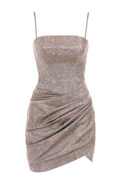 Clothing : Structured Dresses : 'Socorro' Sparkle Mini Drape Dress Source by noweyh dresses Stage Outfits, Teen Fashion Outfits, Classy Outfits, Look Fashion, Dress Outfits, Fashion Dresses, Woman Outfits, Club Outfits, Bar Outfits