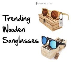 """Trending Wooden Sunglasses"" by nativeshades on Polyvore"