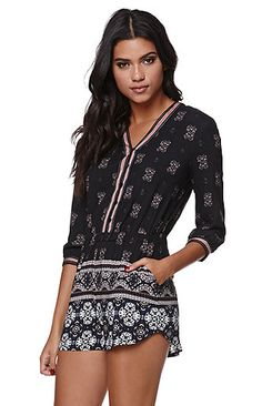 Kendall and Kylie Long Sleeve Romper at PacSun.com