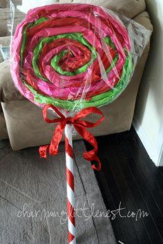 Giant lollipop tutorial...for Vallerie's birthday party!