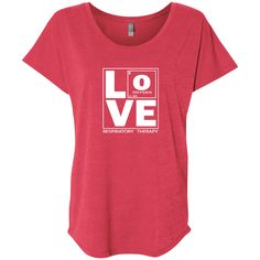 respiratory therapy red love women's t-shirt