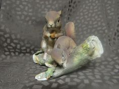 Home Interiors Figurine-Squirrels