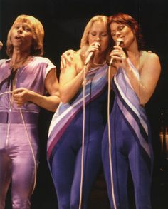 "ABBA Tour in Wembley Arena 1979. ""I Have A Dream"" - Anna ,Frida and Bjorn on stage."