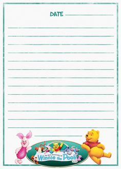 Many Adventures Of Winnie The Pooh Journal Page