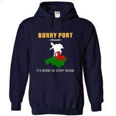 BURRY PORT - Its where my story begins! - t shirt printing #tshirt bemalen #aztec sweater