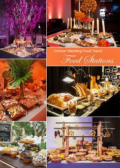 5. The Hottest Wedding Food Trend: Curated Food Stations The most creative way to host your wedding reception is to have a series of curated food stations.