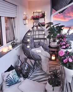comfy apartment balcony decorating ideas on a budget 2019 page 12 – Home Decor Ideas – Grandcrafter – DIY Christmas Ideas ♥ Homes Decoration Ideas Small Balcony Decor, Small Balcony Design, Balcony Ideas, Modern Balcony, Condo Balcony, Small Balcony Garden, Conservatory Ideas, Small Balconies, Balcony Flowers