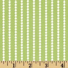 Oh Clementine Stripe Green from @fabricdotcom  Designed by Allison Harris for Windham Fabrics, this cotton print fabric is perfect for quilting, apparel, and home decor accents. Colors include green and white. Stripes run parallel to the selvedge.