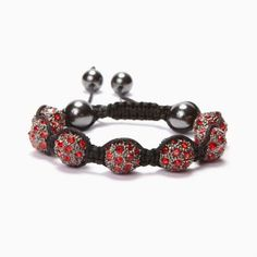 Light Siam Crystal Shamballa Bracelet #Kalifano