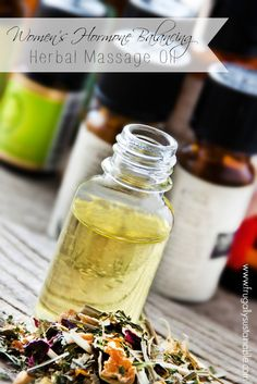 Balance Hormones Naturally :: A Women's Herbal Massage Oil