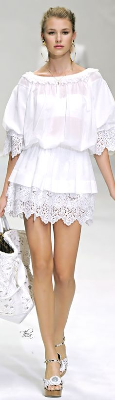 Dolce & Gabbana ● Swimsuit Cover-Up -Inspirational classic white can be done right even on a broke bytches budget....