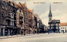 Rynek (Ring / Marktplatz / pl. Maciejewskiej), Bytom - 1905 rok, stare zdjęcia