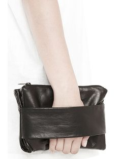 Rad Hourani // Leather Fold Over Clutch