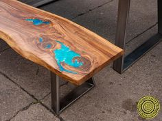 Live edge river glass dining table with bench and glowing image 7 Coffee Table To Dining Table, Glass Dining Table, Wood Table, A Table, Origami, Art And Craft, Art Diy, Live Edge Table, Resin Table