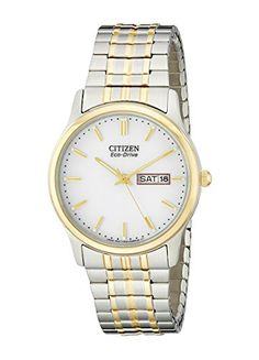 Men's Wrist Watches - Citizen Mens BM845493A EcoDrive Flexible Band TwoTone Watch * Want to know more, click on the image.