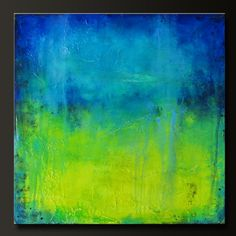 Citrine Falls 24 x 24 Abstract Acrylic by CharlensAbstracts, $ 275