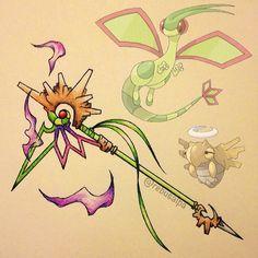 Resultado de imagem para armas parecidas com pokemons