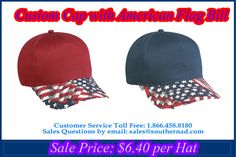 a18bc8fe78e Custom   Cap with American Flag Bill Mid Profile Structured 5 Panel.    capstoyou