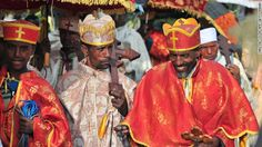 Every year during Timket — the holiest holiday on the Ethiopian Orthodox Christian calendar — thousands of pilgrims flock to the city of Gondar to immerse themselves in holy water. Two days of festivities ends in a jovial splash about.