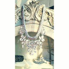 Deco Crystal Cluster Necklace #ChloeandIsabel #Jewelry Estate Vintage classics