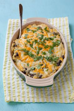 Southwestern Spaghetti Squash Bake | Annie's Eats - like with the quinoa salads consider this a template recipe, use whatever you have that fits the theme. If I were making this I'd probably skip the yogurt because I don't like it. (It's serving a similar purpose to sour cream here.)