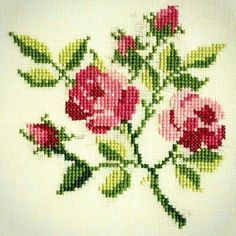 This Pin was discovered by lid Cross Stitch Bird, Cross Stitch Borders, Cross Stitch Flowers, Cross Stitch Embroidery, Silk Ribbon Embroidery, Hand Embroidery, Embroidery Fashion, Butterfly Flowers, Chrochet