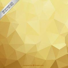 Polygonal background golden tones