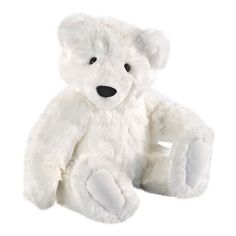 Polar Bear - The Vermont Teddy Bear Company ($100) ❤ liked on Polyvore