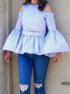 Fancy Tops For Girls, Stylish Dresses For Girls, Stylish Dress Designs, Frocks For Girls, Crop Top Design, Girls Top Design, Shirt Design For Girls, Fancy Top Design, Girls Fashion Clothes
