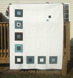 Modern quilt eLegant Squares, front, via Flickr.