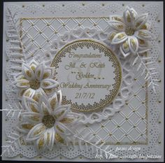 Oyster Stamps Gallery:  lovely card with gold accents.