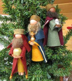 Nativity Ornaments, Nativity Crafts, Christmas Nativity, Felt Christmas, Diy Christmas Ornaments, Holiday Crafts, Christmas Decorations, Nativity Scenes, Etsy Christmas